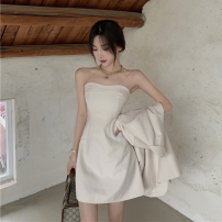 Fashion suit Spring 2021 S,M,L Black coat, coffee coat, apricot coat, black dress, coffee dress, apricot dress 18-25 years old two point two five 30% and below