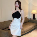Dress Summer 2021 white S,M,L Short skirt singleton  Sleeveless commute High waist other Socket A-line skirt camisole 18-24 years old Type A Korean version three point three zero polyester fiber