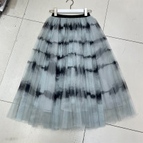 skirt Spring 2021 Average size Yellow, gray, pink Mid length dress fresh Natural waist A-line skirt Type A 18-24 years old D78-------0111 51% (inclusive) - 70% (inclusive)