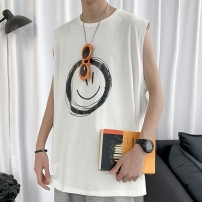 T-shirt Youth fashion routine M,L,XL,XXL Others Sleeveless Crew neck easy campus summer teenagers Sleeveless tide Cotton wool Animal design tto