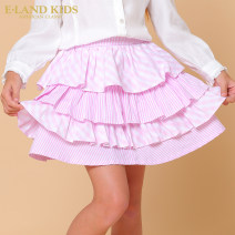 skirt 105 110 120 130 140 150 L / Pink / 26 E·LAND KIDS female Cotton 100% spring and autumn skirt college stripe Cake skirt Pure cotton (100% cotton content) EKWH73821Q Class B Fall 2017