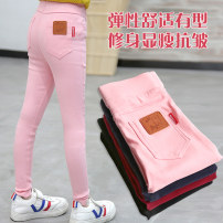 trousers MB.STROLL female 110cm,120cm,130cm,140cm,150cm 34455 Navy, 34455 pink, 34455 black, 34455 sky blue, 34455 jujube red, special for live broadcast spring and autumn trousers Korean version There are models in the real shooting Leggings Leather belt middle-waisted Cotton blended fabric 34455-31
