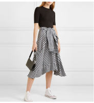 Dress Summer 2021 Black, floral S,M,L,XL Mid length dress Two piece set Short sleeve street Crew neck High waist lattice zipper Princess Dress routine Others 18-24 years old Type A Fold, splice, tie, zipper A0008 81% (inclusive) - 90% (inclusive) knitting cotton Europe and America