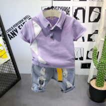 T-shirt Short sleeve, denim pants, short sleeve + pants Other / other The recommended height is 90cm (about 2 years old in size 7), 100cm (about 3 years old in size 9), 110cm (about 4 years old in size 11), 120cm (about 5 years old in size 13) and 130cm (about 6-7 years old in size 15) male summer
