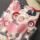 skirt Summer of 2019 S,M,L,XL Pink embroidery High waist A-line skirt
