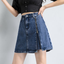 skirt Summer 2021 S M L XL XXL 87324 blue 87324 gray Short skirt Versatile Natural waist A-line skirt other Type A 25-29 years old QTL-87324 81% (inclusive) - 90% (inclusive) Denim future cotton Pleated button zipper Cotton 85% polyester 15% Pure e-commerce (online only)