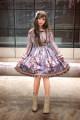 Lolita / soft girl / dress soufflesong Brick red, brown, grey blue L,M,S,XL