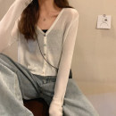 Wool knitwear Summer 2020 S,M,L,XL White, green, black, taro purple, light yellow Long sleeves singleton  Cardigan other More than 95% Regular Thin money commute V-neck routine Solid color Korean version YS0Rfx 18-24 years old