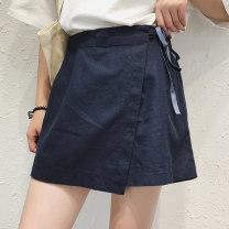 Women's large Summer 2019, summer 2020, spring 2020 Dark blue, brick red M [90-105], l [105-120], XL [120-140], 2XL [140-160], 3XL [160-180], 4XL [180-200] trousers singleton  easy moderate cotton Three dimensional cutting 81% (inclusive) - 90% (inclusive) shorts