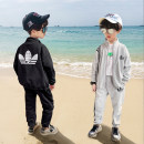 suit Handsome bear Black, gray 110cm,120cm,130cm,140cm,150cm,160cm male spring and autumn leisure time Long sleeve + pants 2 pieces routine There are models in the real shooting Zipper shirt nothing Solid color cotton children Expression of love TZ-0043 Class B Other 100% Chinese Mainland Huzhou City