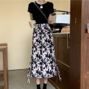 skirt Summer 2021 Large L (recommended 100-115 kg), large XL (recommended 115-130 kg), large 2XL (recommended 130-145 kg), large 3XL (recommended 145-160 kg), large 4XL (recommended 160-180 kg) Decor Middle-skirt commute High waist other Broken flowers Type A 18-24 years old other other printing