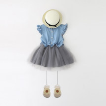 Dress Picture color (one size larger recommended) denim blue (normal size) ggym for kids female Clothing label 3 clothing label 4 clothing label 5 clothing label 6 clothing label 7 clothing label 8 Polyethylene terephthalate (polyester) 100% summer lady Skirt / vest other Cotton blended fabric other