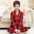 Pajamas / housewear set female Other / other S [70-85 kg], m [80-100 kg], l [100-120 kg], XL [120-140 kg], XXL [140-160 kg], 3XL [160-180 kg] YY1950#,YY1951#,YY1952#,YY1953#,YY1954#,YY1955#,YY1956#,YY1957# cotton Long sleeves pajamas autumn Thin money Small lapel Plants and flowers trousers old age