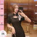 Dress Summer 2021 black S,M,L Mid length dress singleton  Short sleeve commute stand collar High waist Solid color Socket other puff sleeve 25-29 years old Type A U210372 31% (inclusive) - 50% (inclusive) other other