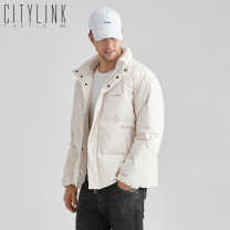 Down Jackets Off white black citylink tactic White duck down M L XL XXL Youth fashion Other leisure routine thickening 90% Wear out Hoodless stand collar Wear out youth 150g (including) - 200g (excluding) Simplicity in Europe and America Closing sleeve Polyester 100% Solid color Editing printing