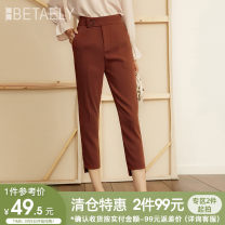 Casual pants Black brown orange S M L XL Fall 2017 trousers Straight pants Natural waist commute routine 25-29 years old 817301-309515 Bailey Ol style Polyester 100% Pure e-commerce (online only)