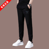 Casual pants Chiamania Youth fashion 165/S,170/M,175/L,180/XL,185/XXL,190/3XL routine trousers Other leisure Self cultivation Micro bomb summer youth tide 2020 middle-waisted Little feet Sports pants Pocket decoration No iron treatment Solid color cotton cotton International brands