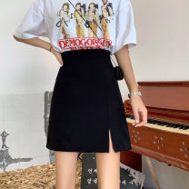 skirt Summer 2020 S M L Black apricot Short skirt Versatile High waist A-line skirt Solid color Type A 18-24 years old 81% (inclusive) - 90% (inclusive) other Gooseby polyester fiber Pure e-commerce (online only) 401g / m ^ 2 (inclusive) - 500g / m ^ 2 (inclusive)