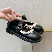 Low top shoes Fanaishi Summer 2021 leisure time rubber Shallow mouth PU PU solar system Youth (18-40 years old) Adhesive shoes Solid color Flat bottom Flat heel (1cm or less) PU Mary Jane shoes Flat buckle Lace of shallow belt buckle 2021042801zym Face dressing Pure e-commerce (online sales only)