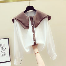 Lace / Chiffon Spring 2020 White, coffee S,M,L,XL Long sleeves commute Cardigan singleton  easy Regular Double collar routine 18-24 years old Korean version 81% (inclusive) - 90% (inclusive)