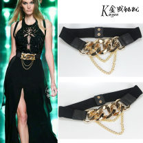 Belt / belt / chain cloth black female Waistband Versatile Single loop Youth, middle age, old age other soft surface 4cm alloy Bare body, Sequin, chain, elastic JC2180 65cm,75cm