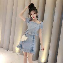 Fashion suit Summer 2020 S,M,L White, blue, black 81% (inclusive) - 90% (inclusive) cotton