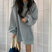 Sweater / sweater Spring 2021 Average size have more cash than can be accounted for Socket singleton  thickening Hood Solid color 30% and below cotton