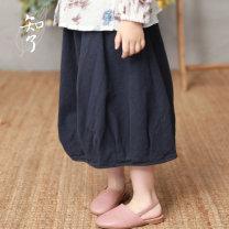 skirt K3583 cicada Cotton 100% female spring and autumn skirt Solid color Pure cotton (100% cotton content) Class B Fall 2018 Tibetan green 110cm 120cm 130cm 140cm 150cm 160cm