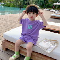 suit Sifangjia Purple, beiapricot 80cm,90cm,100cm,110cm,120cm,130cm male summer Korean version Sleeveless + pants 2 pieces routine There are models in the real shooting Socket nothing other cotton children Expression of love xt3010 Class B Other 100% Chinese Mainland Zhejiang Province Huzhou City