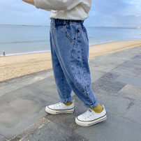 trousers Sifangjia male 80cm,90cm,100cm,110cm,120cm,130cm blue spring and autumn trousers Korean version There are models in the real shooting Jeans Leather belt middle-waisted cotton Open crotch Other 100% ck3024 Class B Chinese Mainland Zhejiang Province Huzhou City