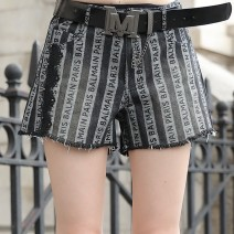 Casual pants black S,M,L,XL Summer 2021 shorts Haren pants Natural waist street Thin money 51% (inclusive) - 70% (inclusive) O-BAI Cotton blended fabric cotton Europe and America