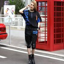 Fashion suit Summer 2021 S (85-100kg), m (100-120kg), l (120-140kg) black O-BAI 659-159 51% (inclusive) - 70% (inclusive) cotton
