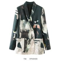 suit Spring 2021 Decor S,M,L Long sleeves routine Straight cylinder tailored collar double-breasted street routine 96% and above other