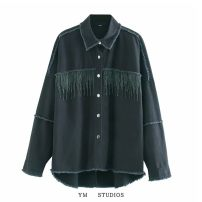 short coat Autumn 2020 XS,S,M,L Picture color [9917] Long sleeves routine routine singleton  easy street Polo collar Single breasted Solid color Tassel, diamond