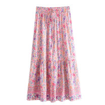 skirt Spring 2020 S,M,L longuette street High waist Decor printing Europe and America