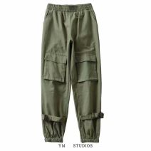Casual pants Black [743], army green [743] S,M,L Spring 2020 trousers Overalls High waist street routine Europe and America