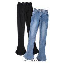 Jeans Spring 2021 Black [nz112], denim [nz112] XS,S,M,L trousers Natural waist Flared trousers routine washing Cotton elastic denim p2102651323a 81% (inclusive) - 90% (inclusive)
