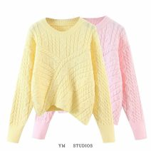 Wool knitwear Autumn 2020 Average size Pink [7565], yellow [7565] Long sleeves singleton  Socket acrylic fibres 51% (inclusive) - 70% (inclusive) have cash less than that is registered in the accounts routine street Animal design Socket Europe and America