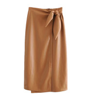 skirt Winter of 2019 S,M,L longuette street High waist Solid color Europe and America