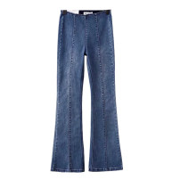 Jeans Autumn of 2019 Blue [8451], black [8451] S,M,L,XL trousers High waist Flared trousers sb1908602617