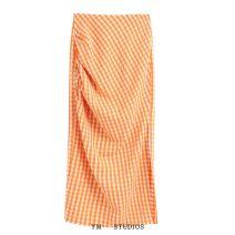 skirt Summer 2020 XS,S,M,L longuette street High waist High waist skirt lattice Europe and America