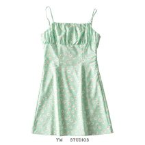 Dress Summer 2021 Picture color [261] S,M,L Short skirt singleton  Sleeveless street High waist Decor Socket camisole printing 71% (inclusive) - 80% (inclusive) Europe and America
