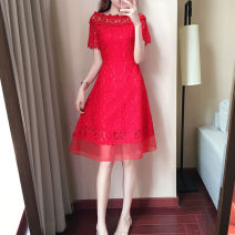 Dress / evening wear Wedding, adulthood, party, company annual meeting, performance, routine, appointment XXL, XXXL, s, m, l, XL, collection + additional purchase = priority delivery, select the size according to the waist circumference gules Korean version Short skirt High waist Spring 2021 zipper