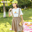 Dress female Mishibe 130cm 140cm 150cm 160cm 170cm 175cm Other 100% summer Korean version Short sleeve other other A-line skirt Class B Summer 2021 6 years old, 7 years old, 8 years old, 9 years old, 10 years old, 11 years old, 12 years old, 13 years old and 14 years old