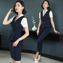 Professional dress suit S M L XL XXL XXXL Summer of 2018 Short sleeve Other styles of shirts Suit skirt 18-25 years old Fasvis / Fanji Polyester 69% viscose 29% polyurethane elastic 2% Pure e-commerce (online only)