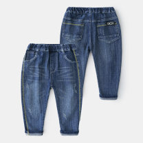 trousers Shell element male 100cm,110cm,120cm,130cm,140cm,150cm Denim blue spring and autumn trousers Europe and America No model Casual pants Leather belt middle-waisted other Don't open the crotch Other 100% kzc537 Class B 14, 13, 12, 11, 10, 9, 8, 7, 6, 5, 4, 3, 2 years old