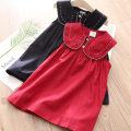 Dress summer fresh other Suspender skirt / vest skirt other Class B female Shell element Other 100% 2, 3, 4, 5, 6, 7, 8, 9, 10, 11, 12, 13, 14 qz5759 Navy, Burgundy 90cm,100cm,110cm,120cm,130cm,140cm