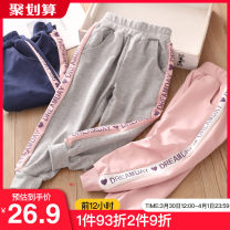 trousers Shell element female 90cm,100cm,110cm,120cm,130cm,140cm spring and autumn trousers Korean version No model Casual pants Leather belt other Don't open the crotch Class B 2, 3, 4, 5, 6, 7, 8, 9, 10, 11, 12, 13, 14 years old