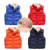 Vest male Sapphire blue, red, orange, green, navy blue, yellow, sky blue, bean green Shell element winter Plush No model Single breasted Europe and America other Solid color Other 100% wt-5753 Class C Intradermal bile duct 2, 3, 4, 5, 6, 7, 8, 9, 10, 11, 12, 13, 14 years old
