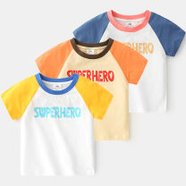 T-shirt Blue, yellow, orange Shell element 120cm,110cm,140cm,130cm,100cm,90cm male summer Short sleeve Crew neck Europe and America No model other other txa931 Class B 2, 3, 4, 5, 6, 7, 8, 9, 10, 11, 12, 13, 14 years old